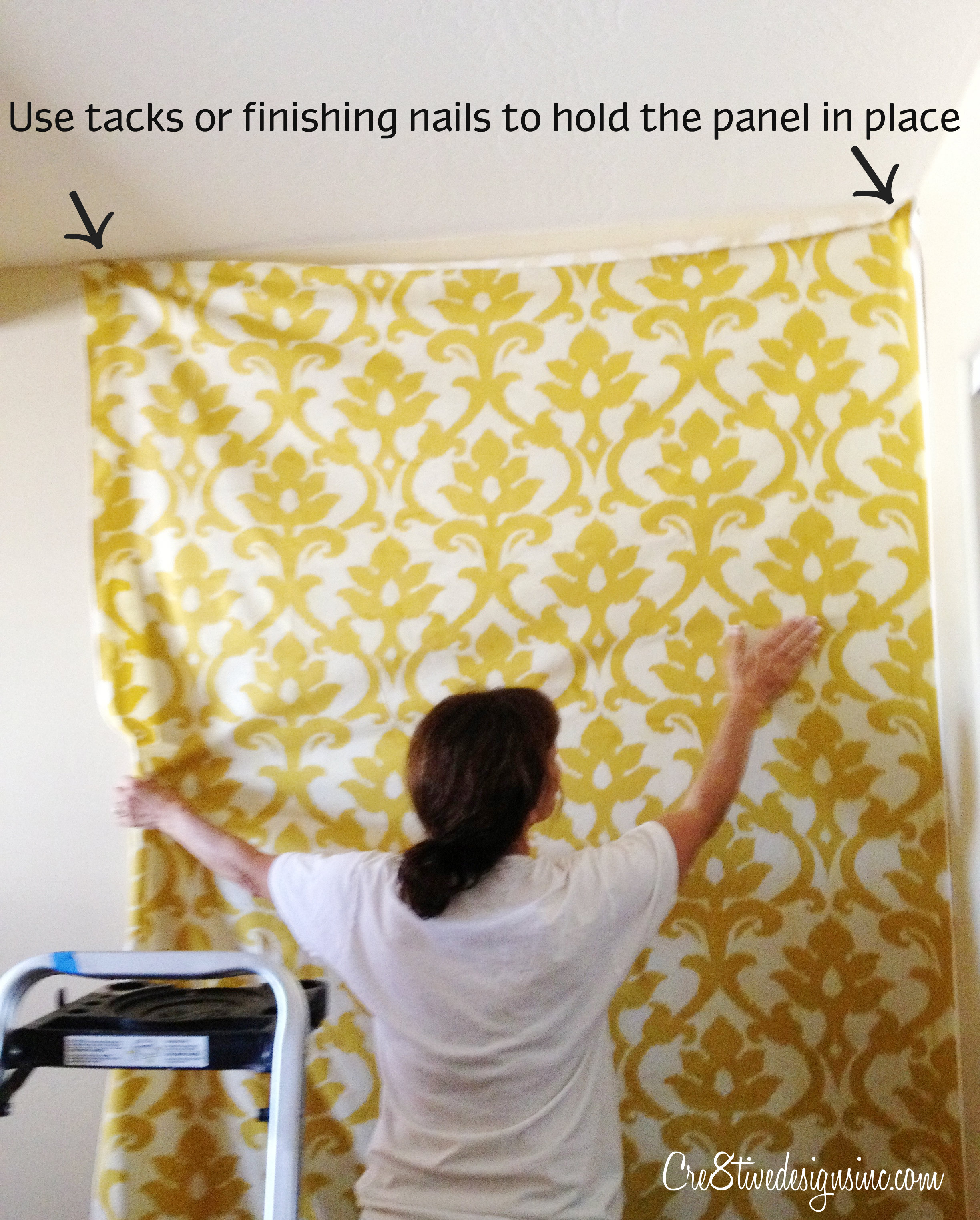 How to wallpaper with fabric using starch   Cre8tive Designs Inc 2448x3048