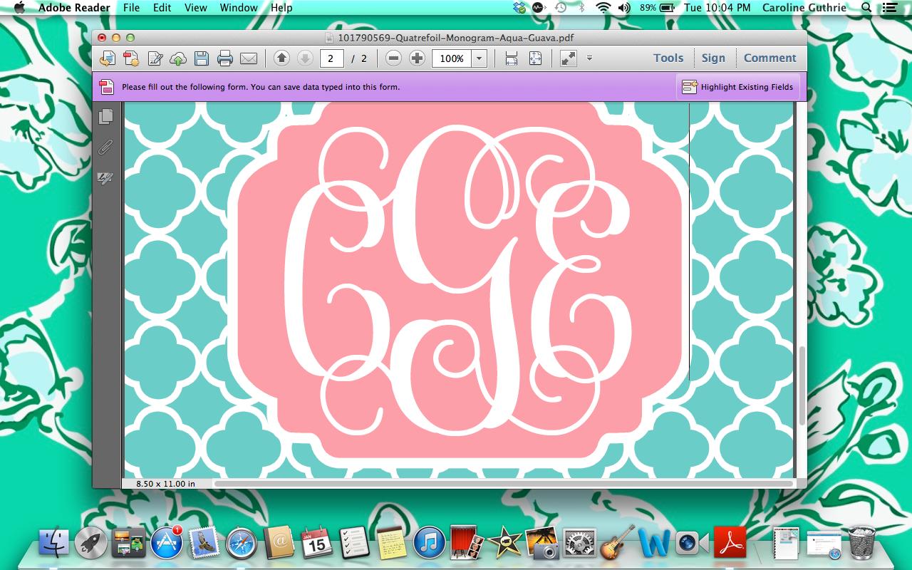 49 Create A Monogram Wallpaper Online On Wallpapersafari