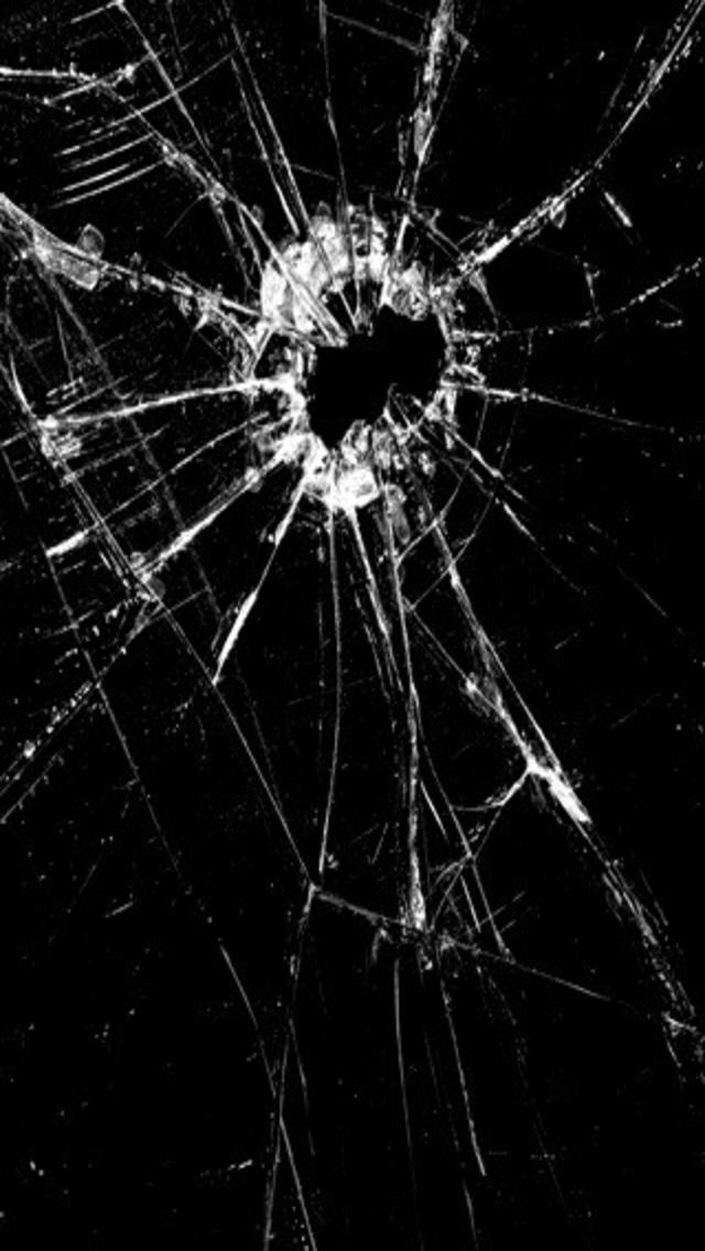 Iphone Wallpaper Cracked Iphone Screen Wallpaper Wallpaper Site 640x1136