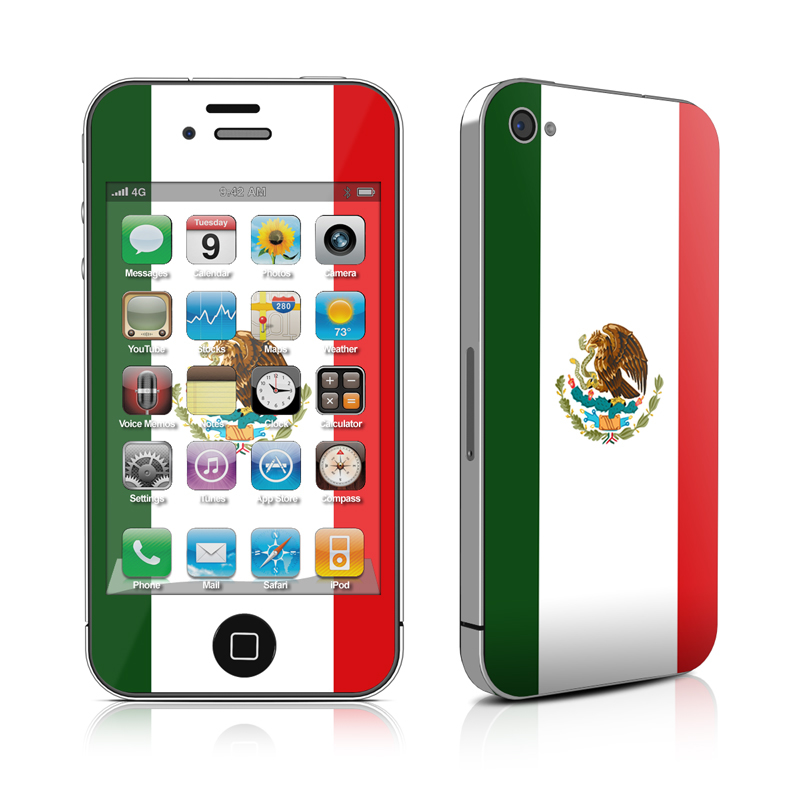 iPhone 4 Skin   Mexican Flag by Flags DecalGirl 800x800