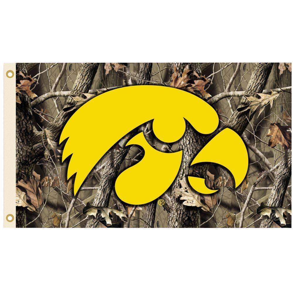 BSI Products NCAA 3 ft x 5 ft Realtree Camo Background Iowa Flag 1000x1000