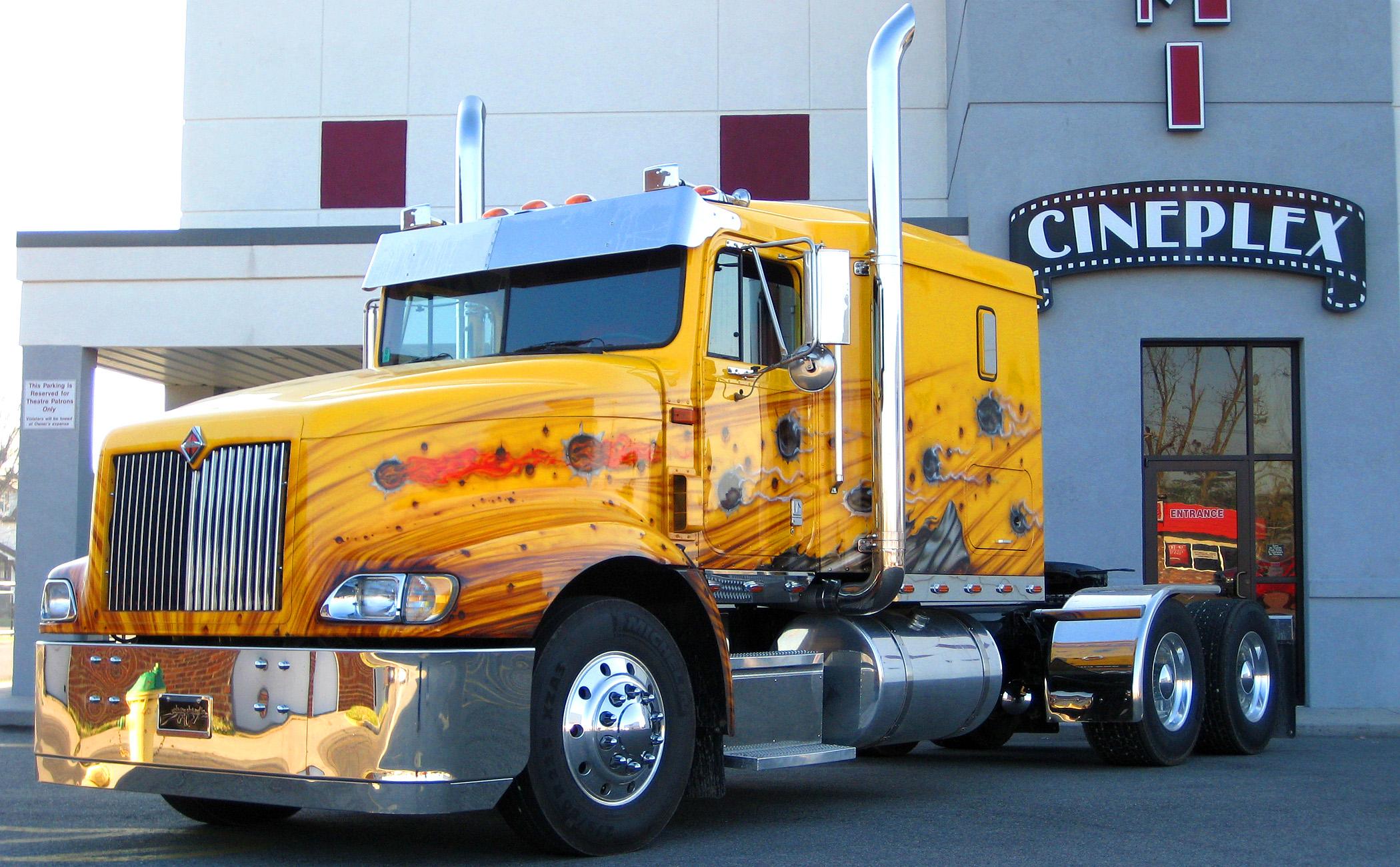 custom semi rigs tractor trucks wallpaper background 2100x1301