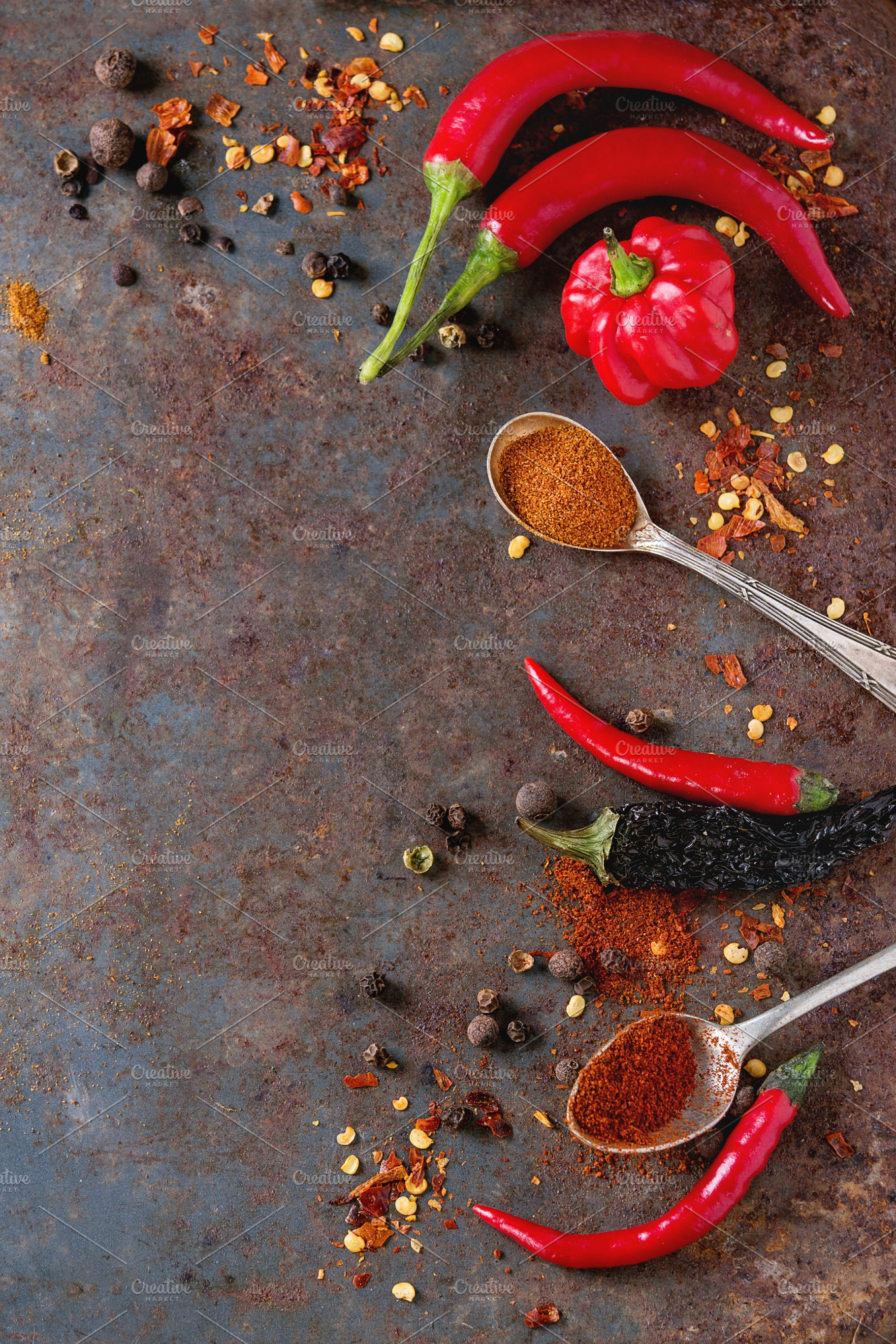 Spicy background with chili peppers Food Drink Photos 1820x2730
