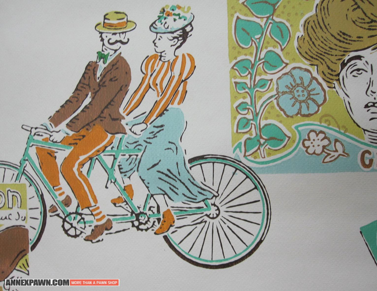 Wallpaper Roll UWPC 1920s Belle poque Antique Art Nouveau Figural 1532x1184