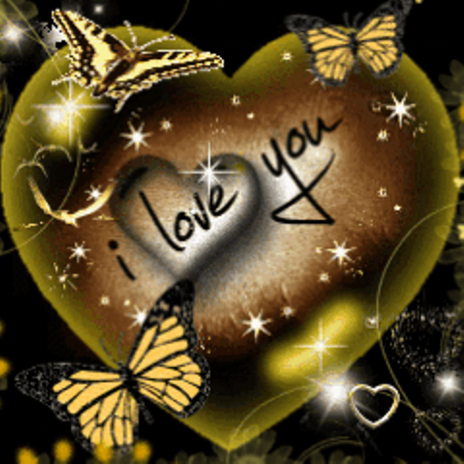 com I Love You Heart Butterfly Live Wallpaper Appstore for Android 512x512