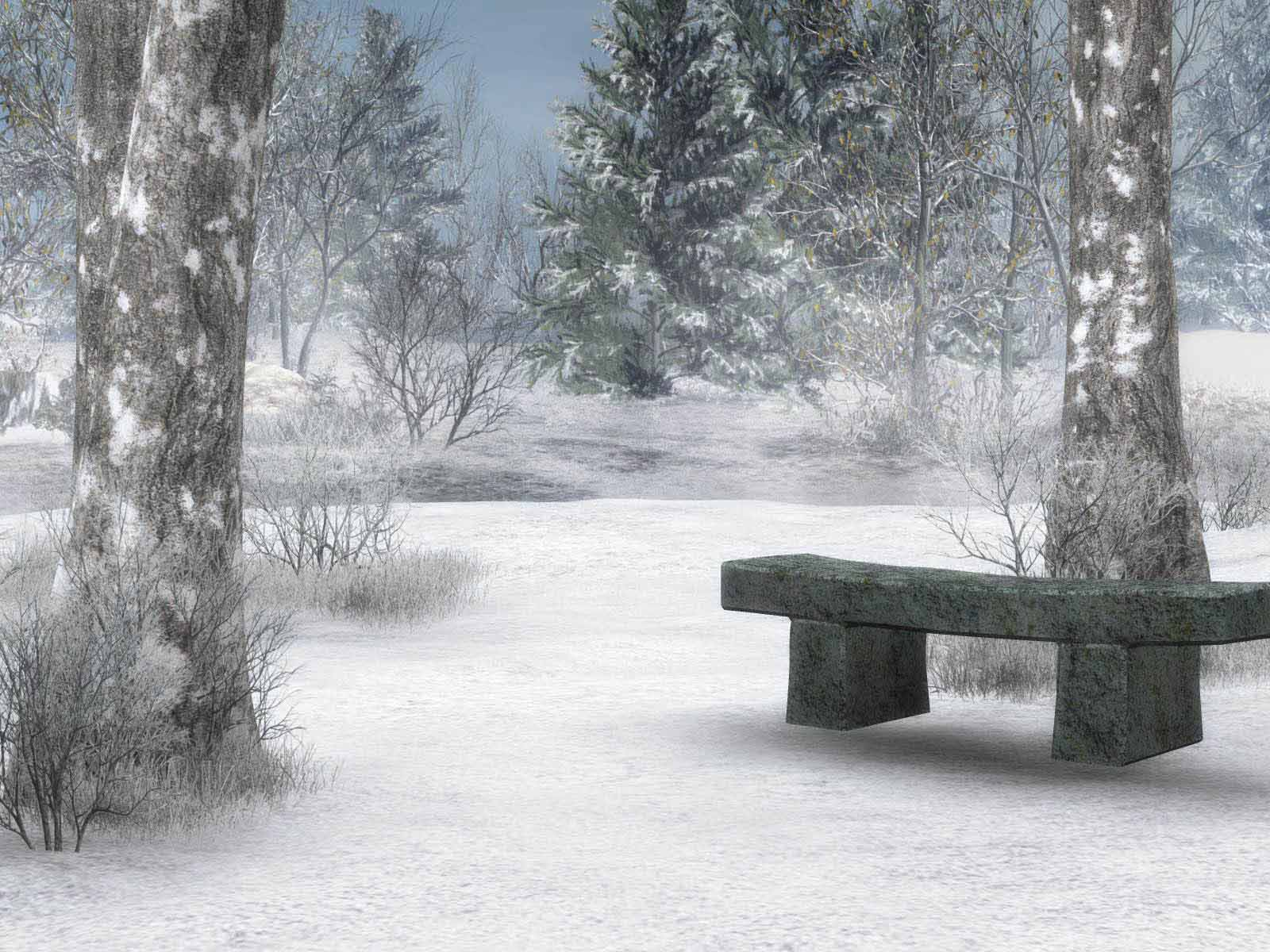 HD Wallpapers Winter Scenes for Desktop 1600x1200