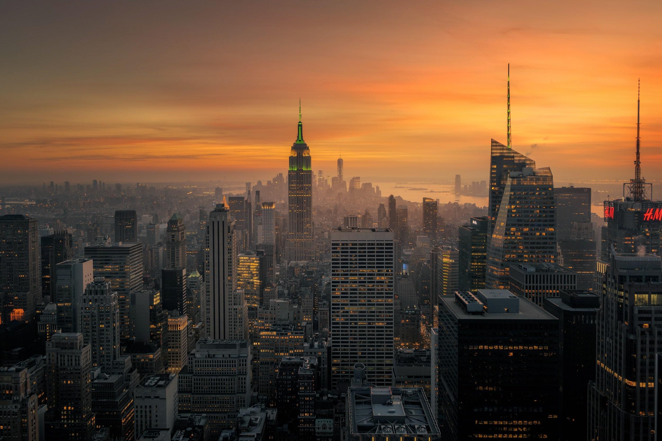 Man Made New York Cities United States USA City Cityscape Night 2500x1669