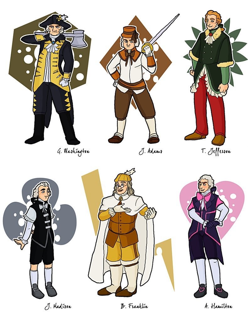 Magical Girl Founding Fathers by Publius Reporter 790x1012