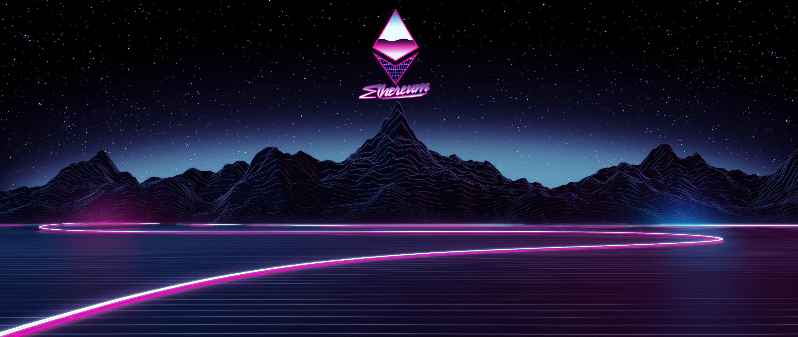 Ethereum Synthwave Wallpaper   Album on Imgur 2560x1080