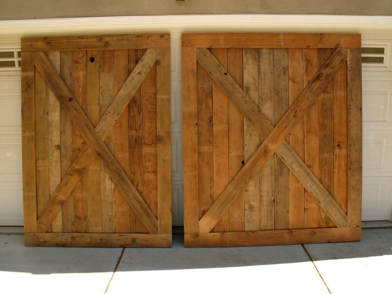Barn Wood Doors Superior With We Finished These Huge Barnwood Doors 1600x1200