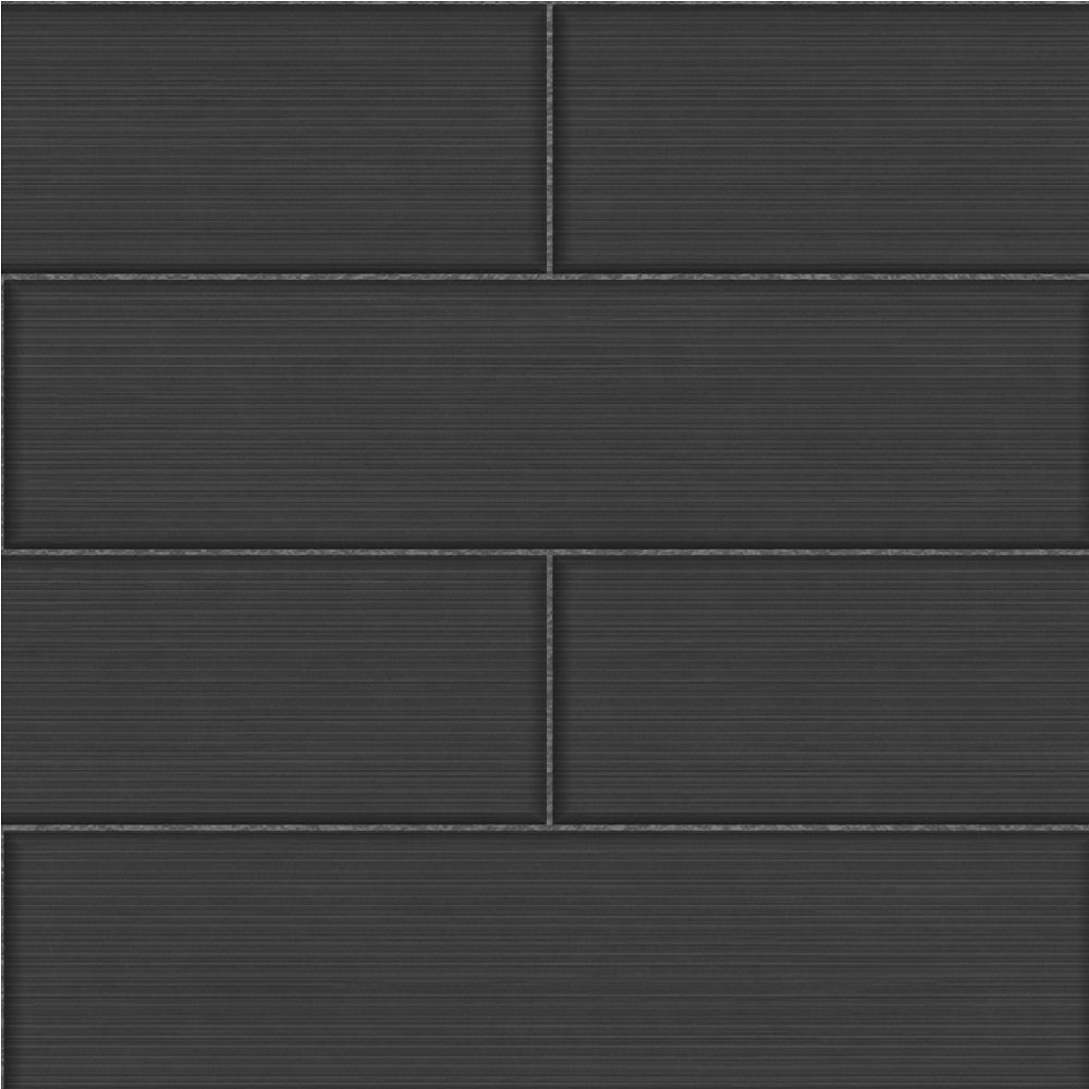 Fine Decor Ceramica Stria Large Tile Effect Wallpaper Charcoal FD40123 1000x1000