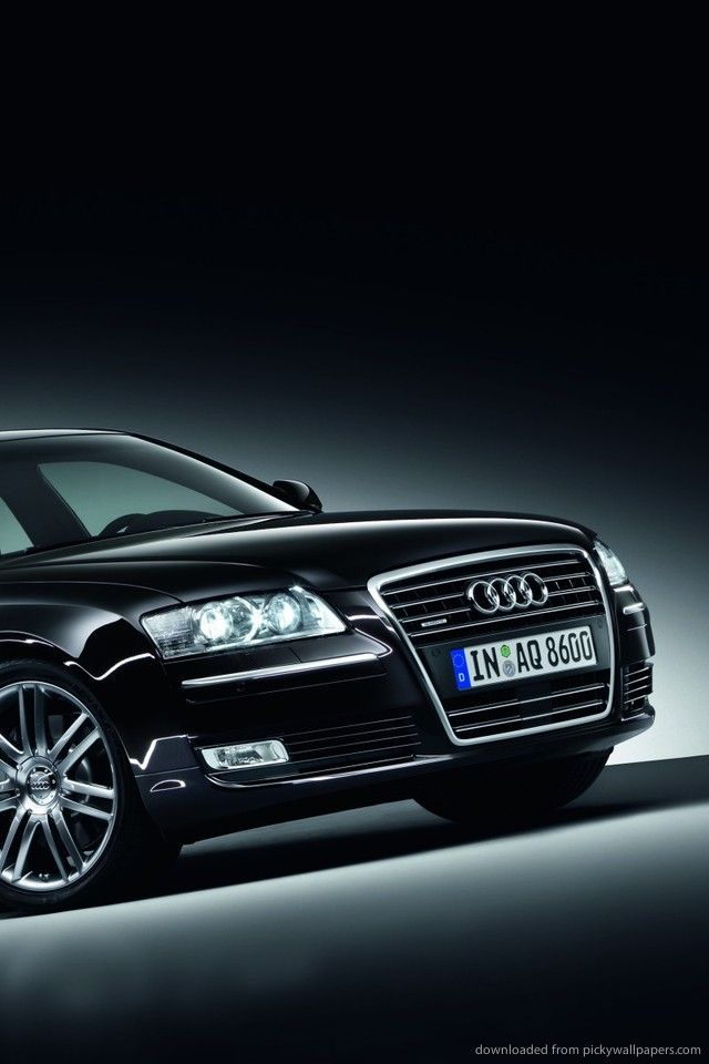 Download Black Audi A8 Wallpaper For iPhone 4 640x960