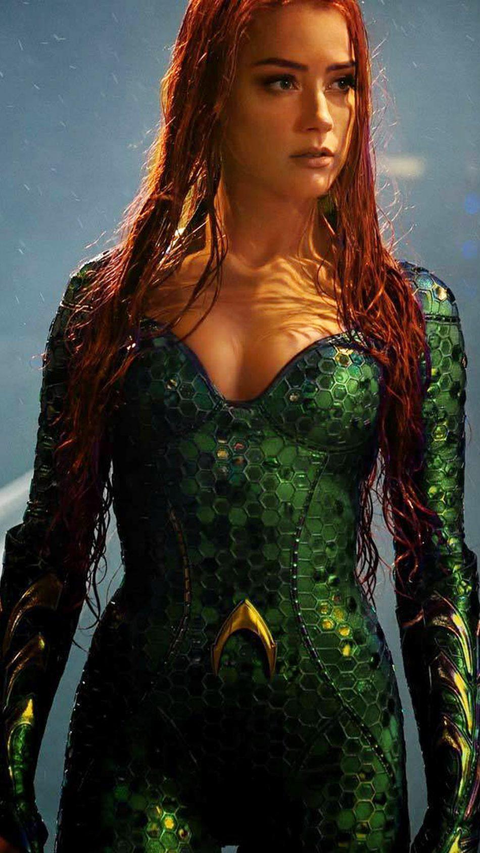 Download Amber Heard In Aquaman Pure 4K Ultra HD Mobile Wallpaper 950x1689