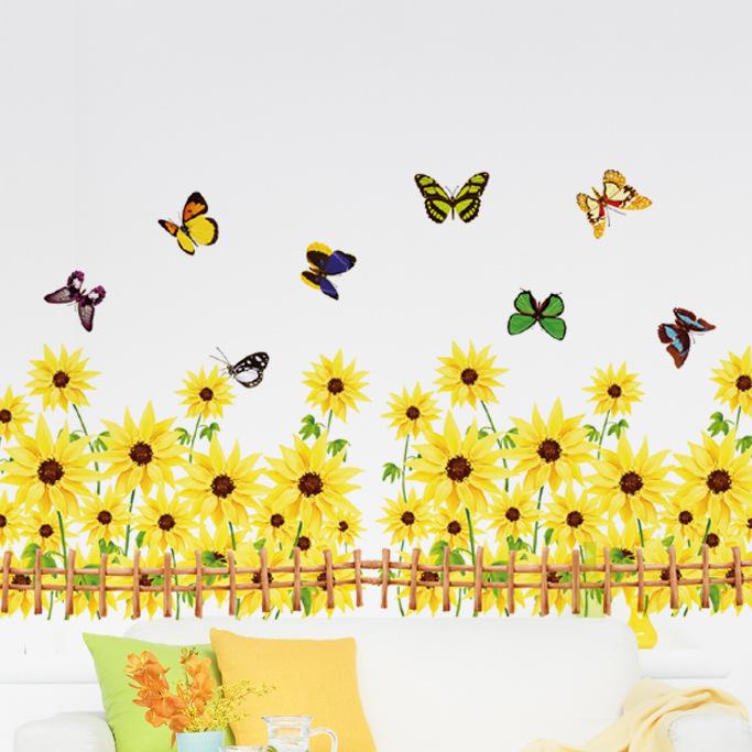 45+ Sunflower Wallpaper Borders for Kitchen on ...