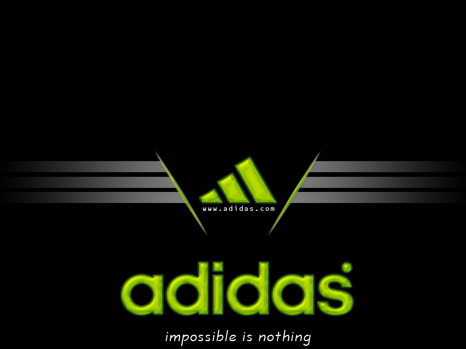 canal Dictadura Te mejorarás  21+] Adidas Logo 3D Wallpaper on WallpaperSafari