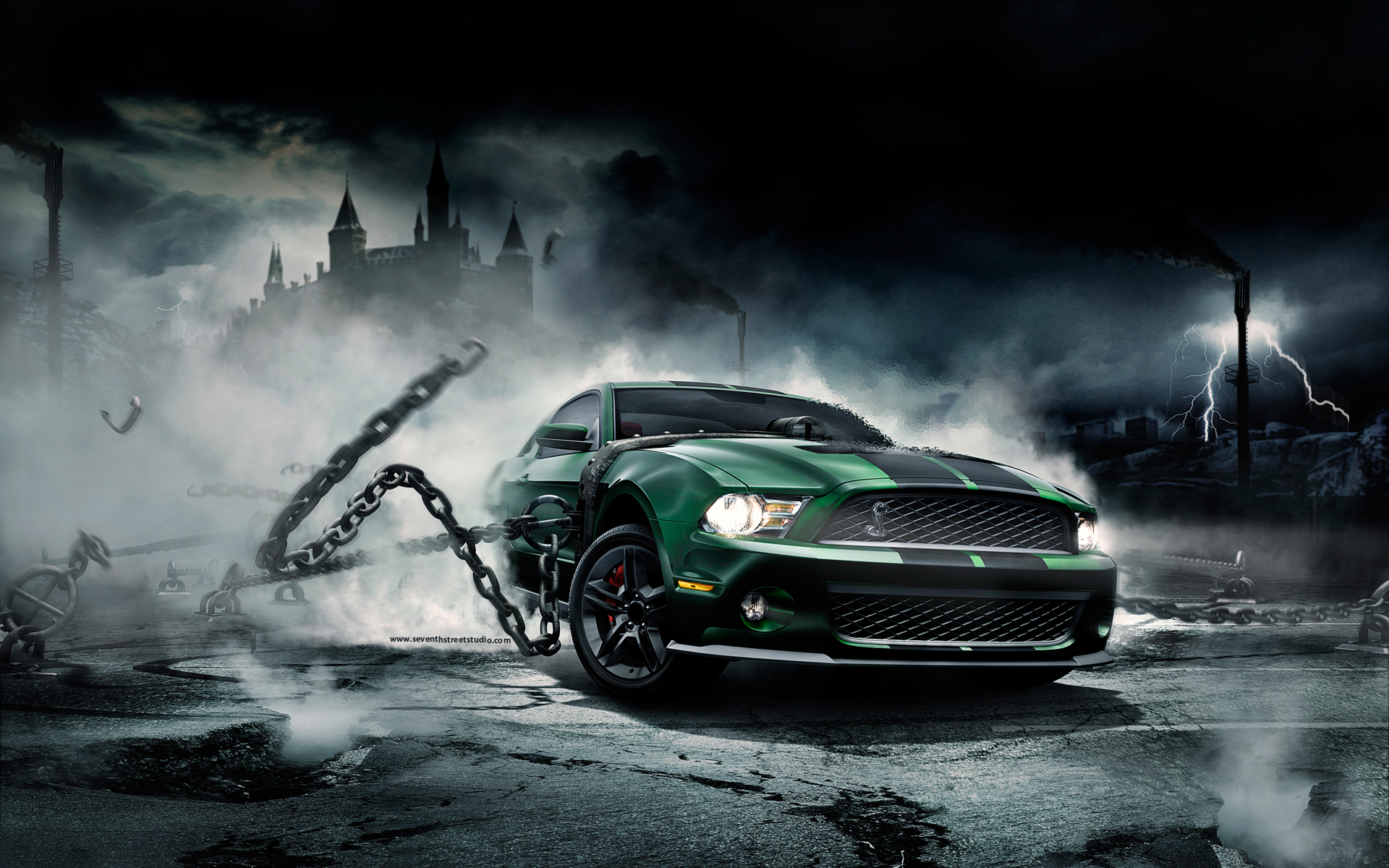 wallpaper creative monster screensavers mustang pictures 1920x1200 1920x1200