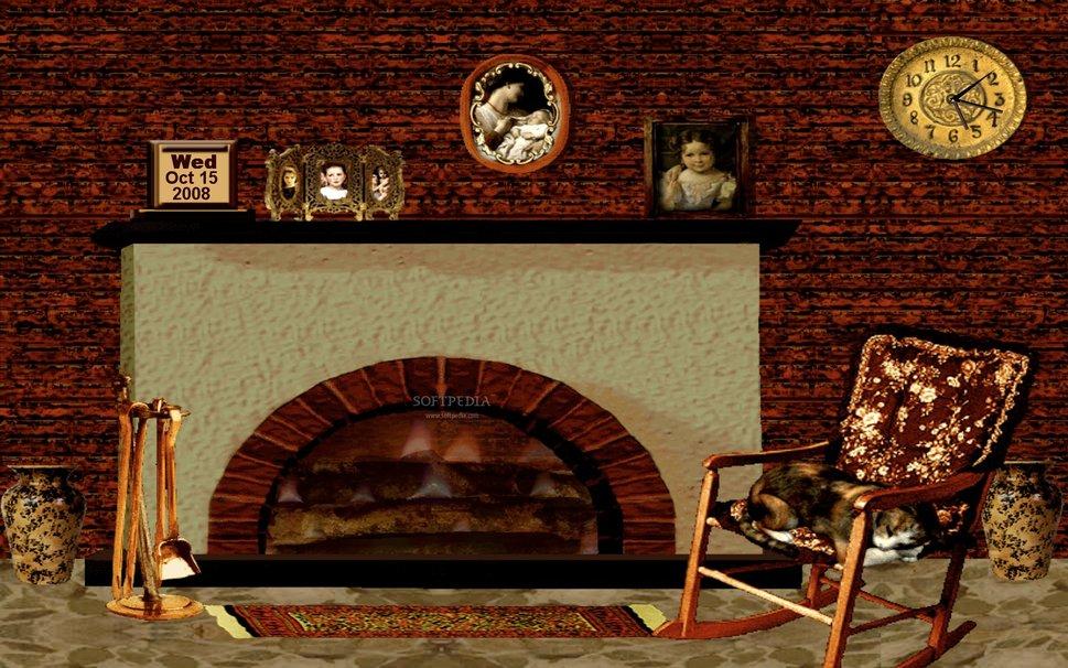 Cozy Winter Fireplace wallpaper 969x606