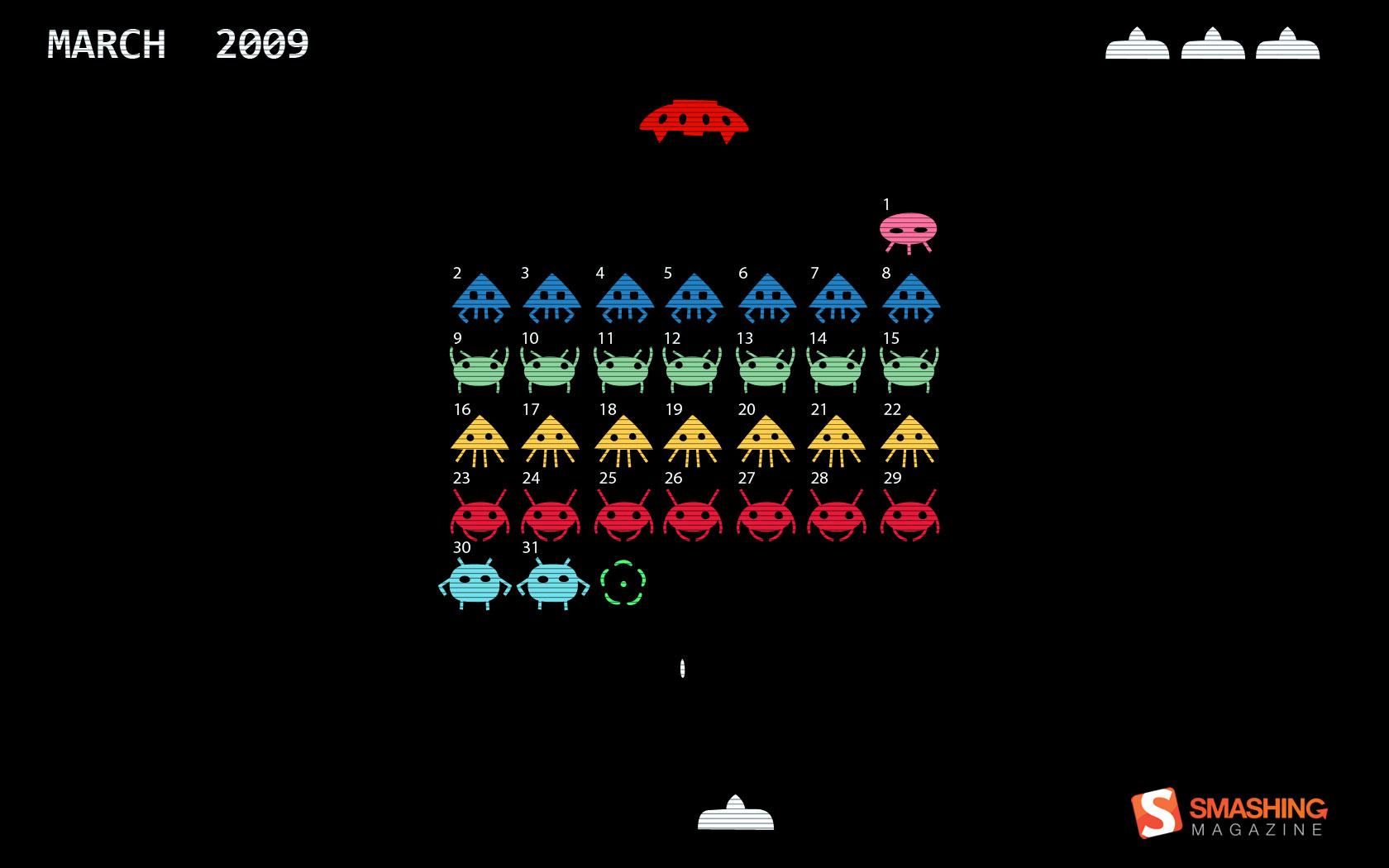 Space Invaders gameplay classic 1680x1050