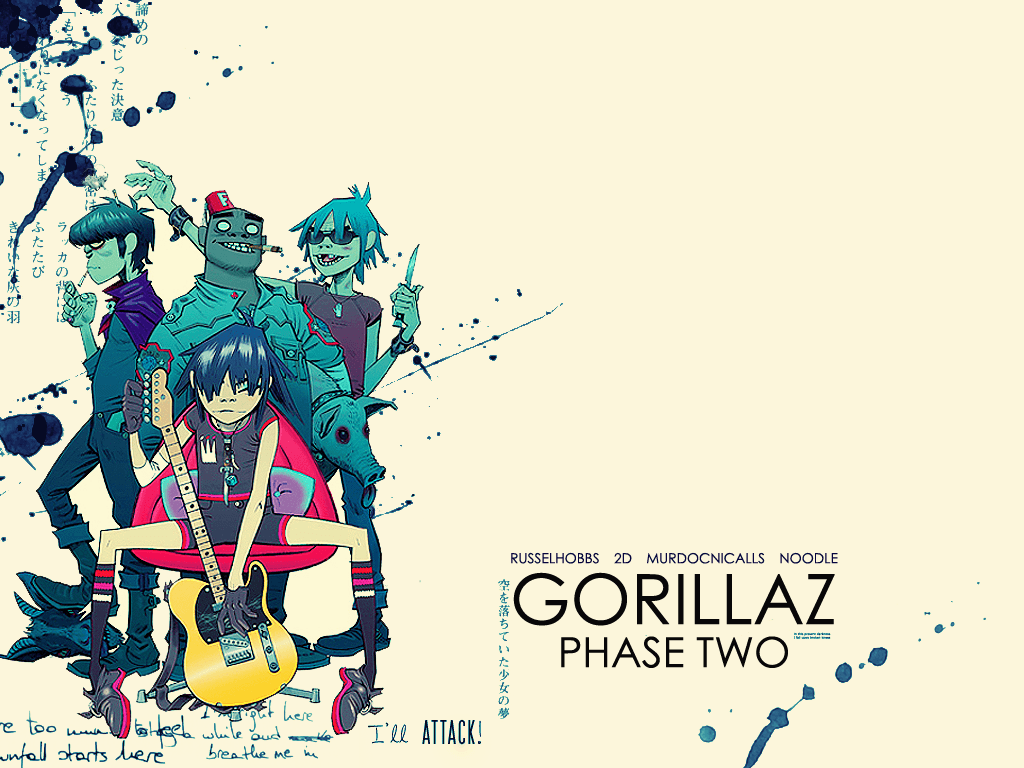 Free Download The Gorillaz Wallpapers 1024x768 For Your