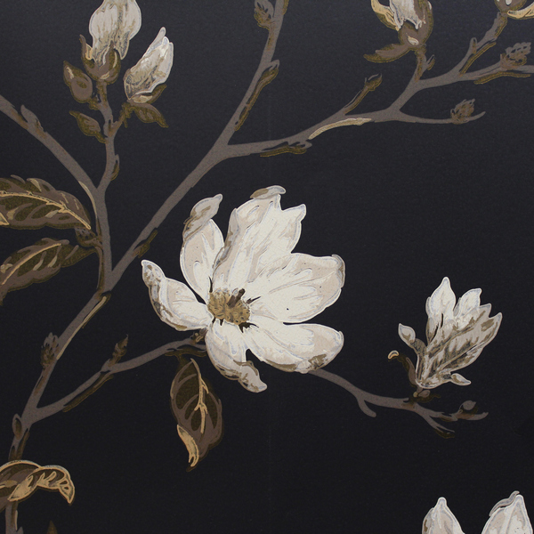 Colefax and Fowler Marchwood Wallpaper   Black 0797605 600x600