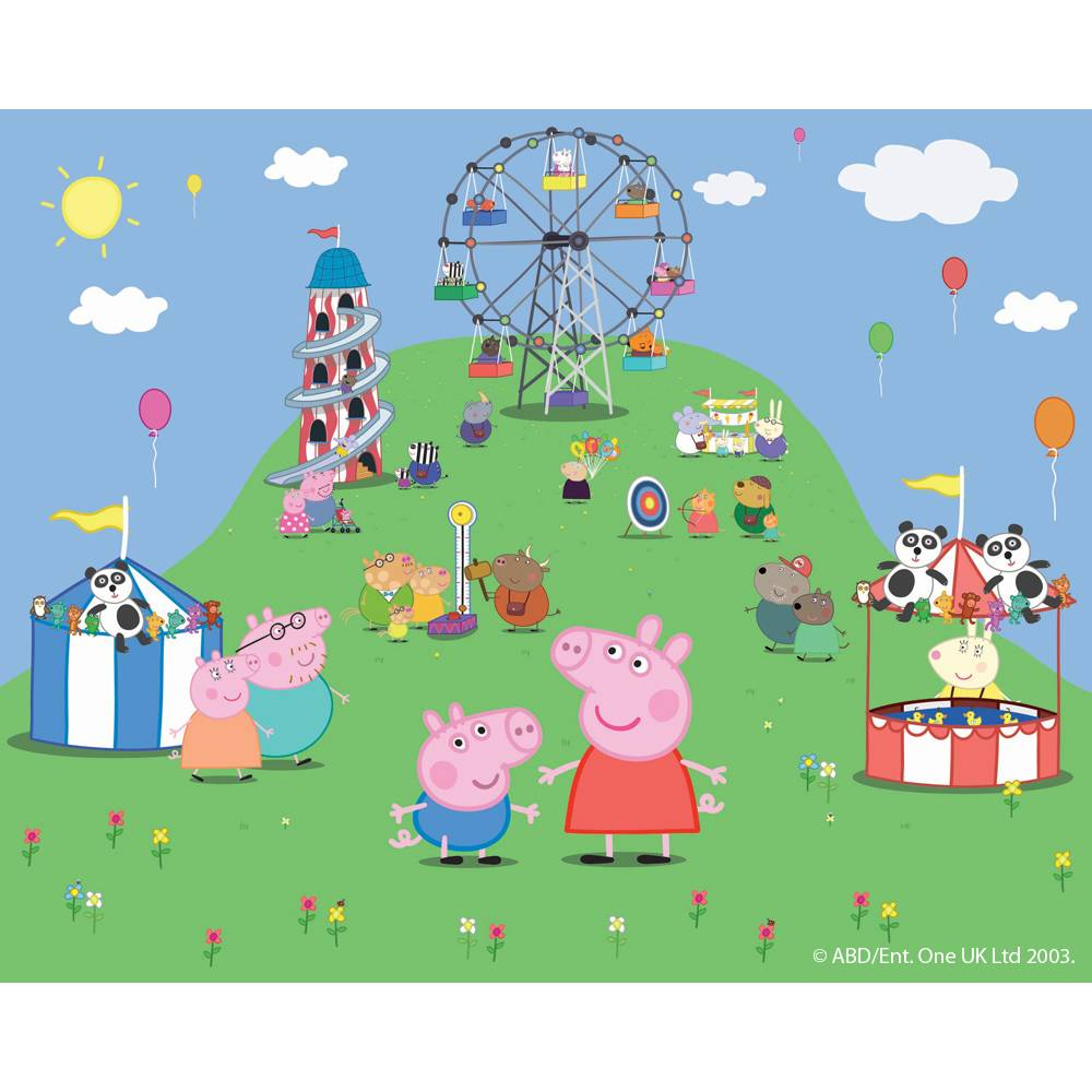 Walltastic Peppa Pig Wallpaper Mural Next Day Delivery
