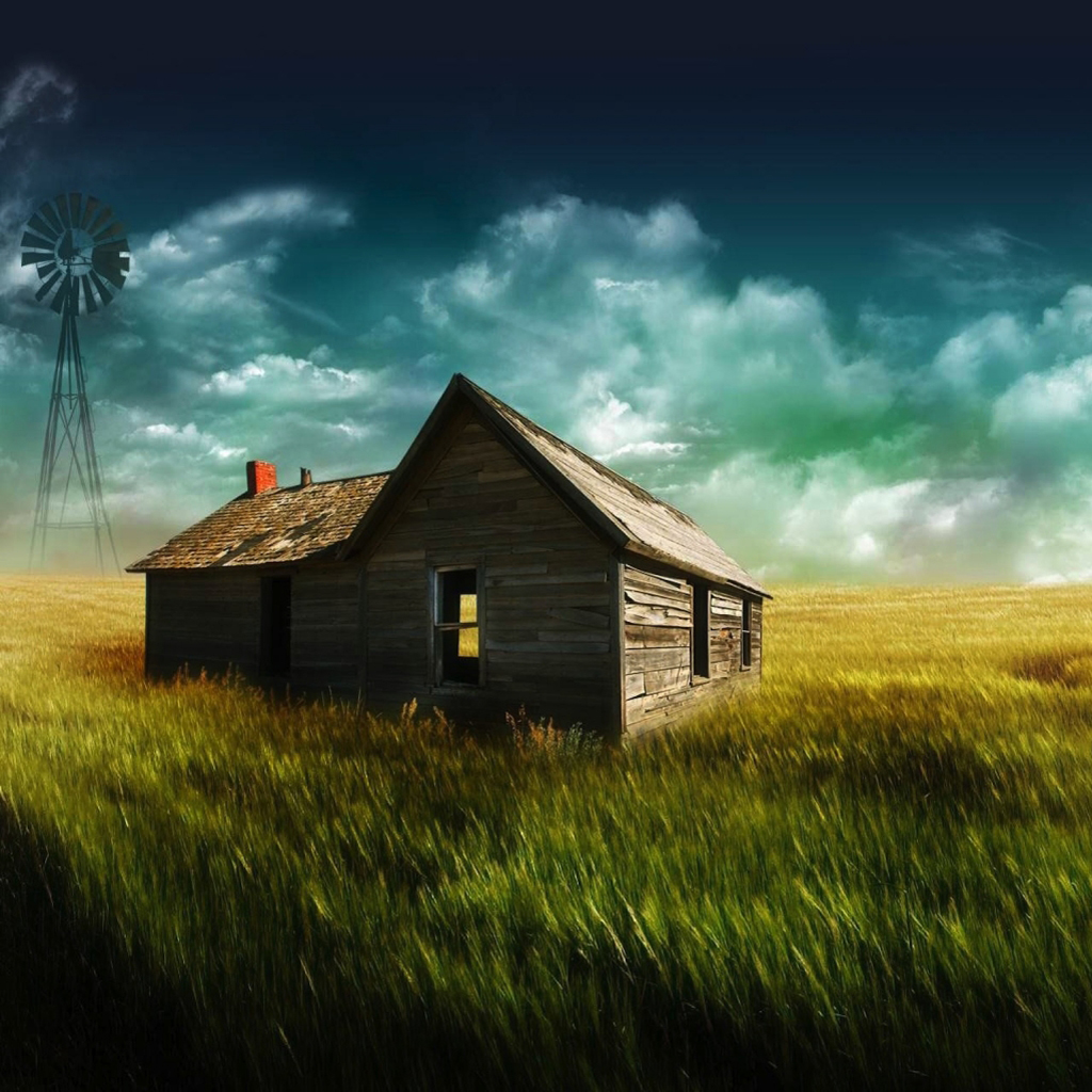 3d wooden house iPad Wallpapers iPad Backgrounds HD Wallpaper 1024x1024