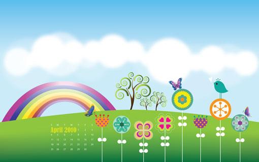 April 2010 Desktop Calendar Wallpapers Designfreebies 510x319