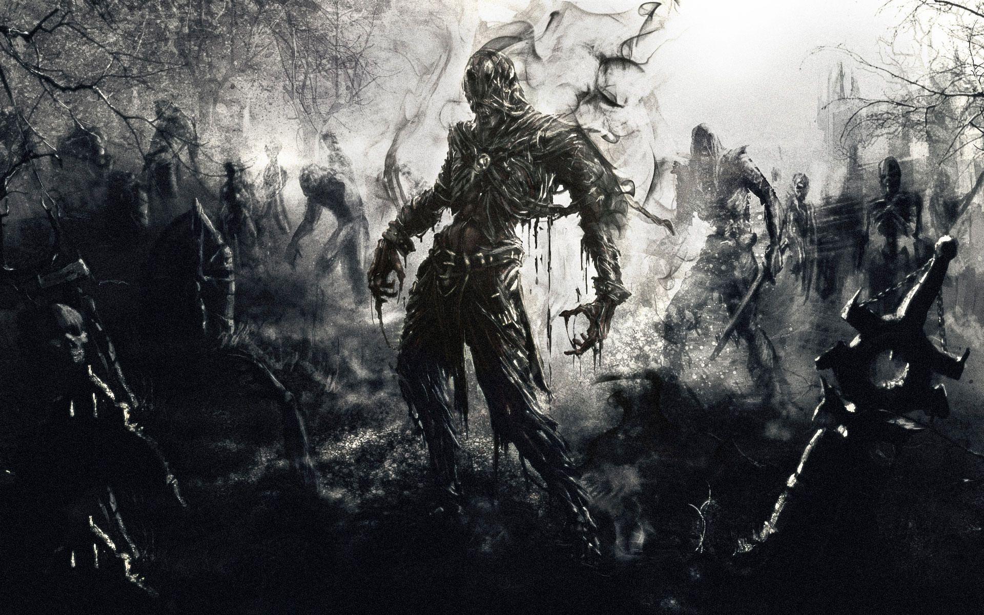 ira demonio josue eduardo Gaming wallpapers Zombie art 1920x1200