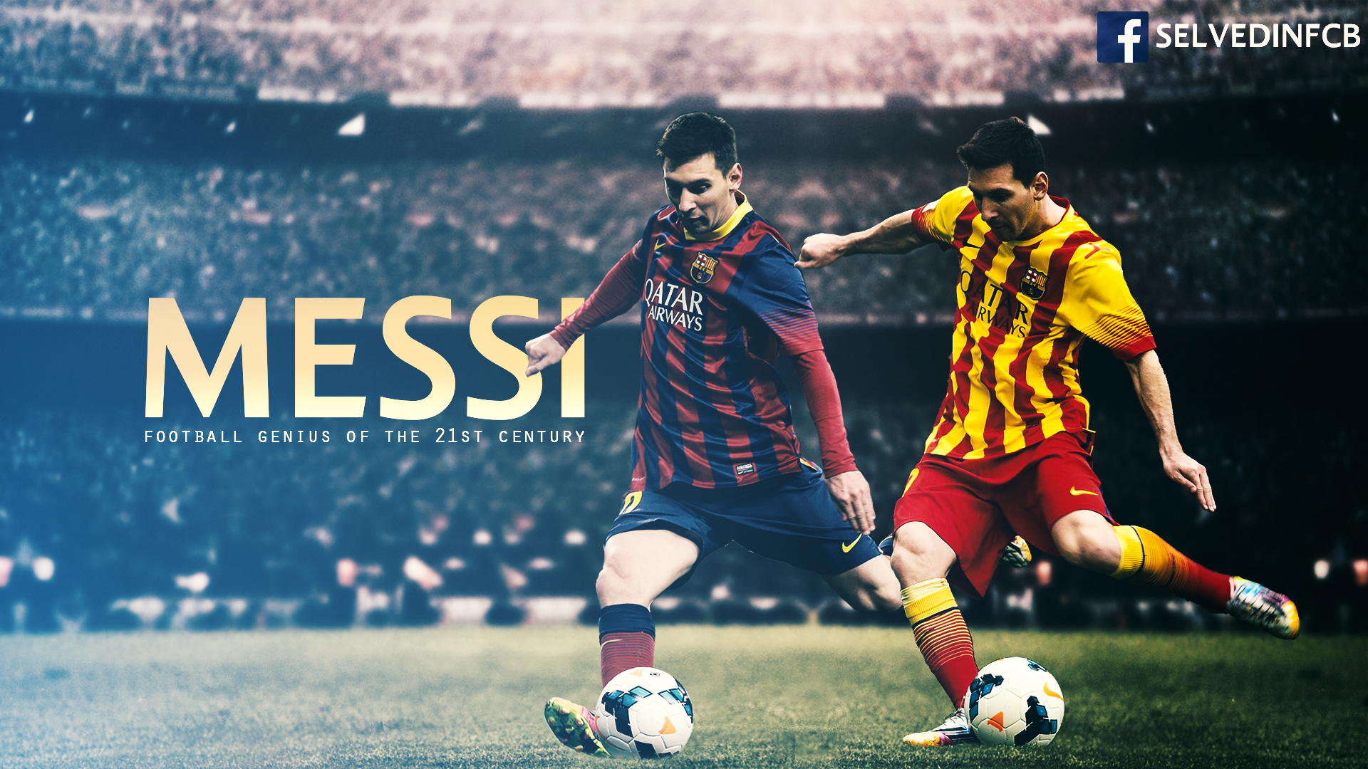 Lionel Messi 2014 Wallpaper HD by SelvedinFCB 1920x1080
