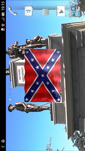 free confederate 3d flag live wallpaper key features real opengl es 3d 288x512