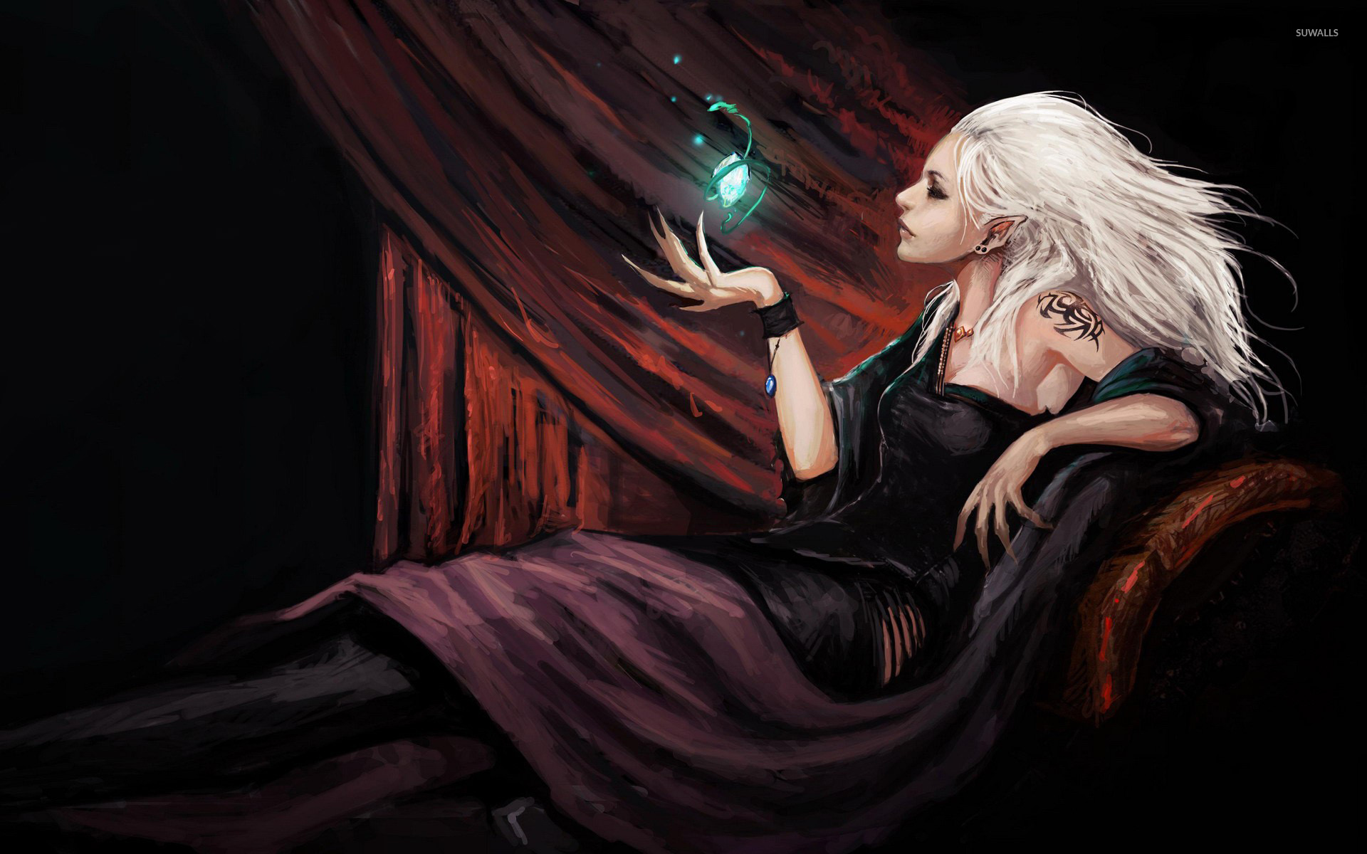 Elf witch wallpaper   Fantasy wallpapers   17581 1920x1200