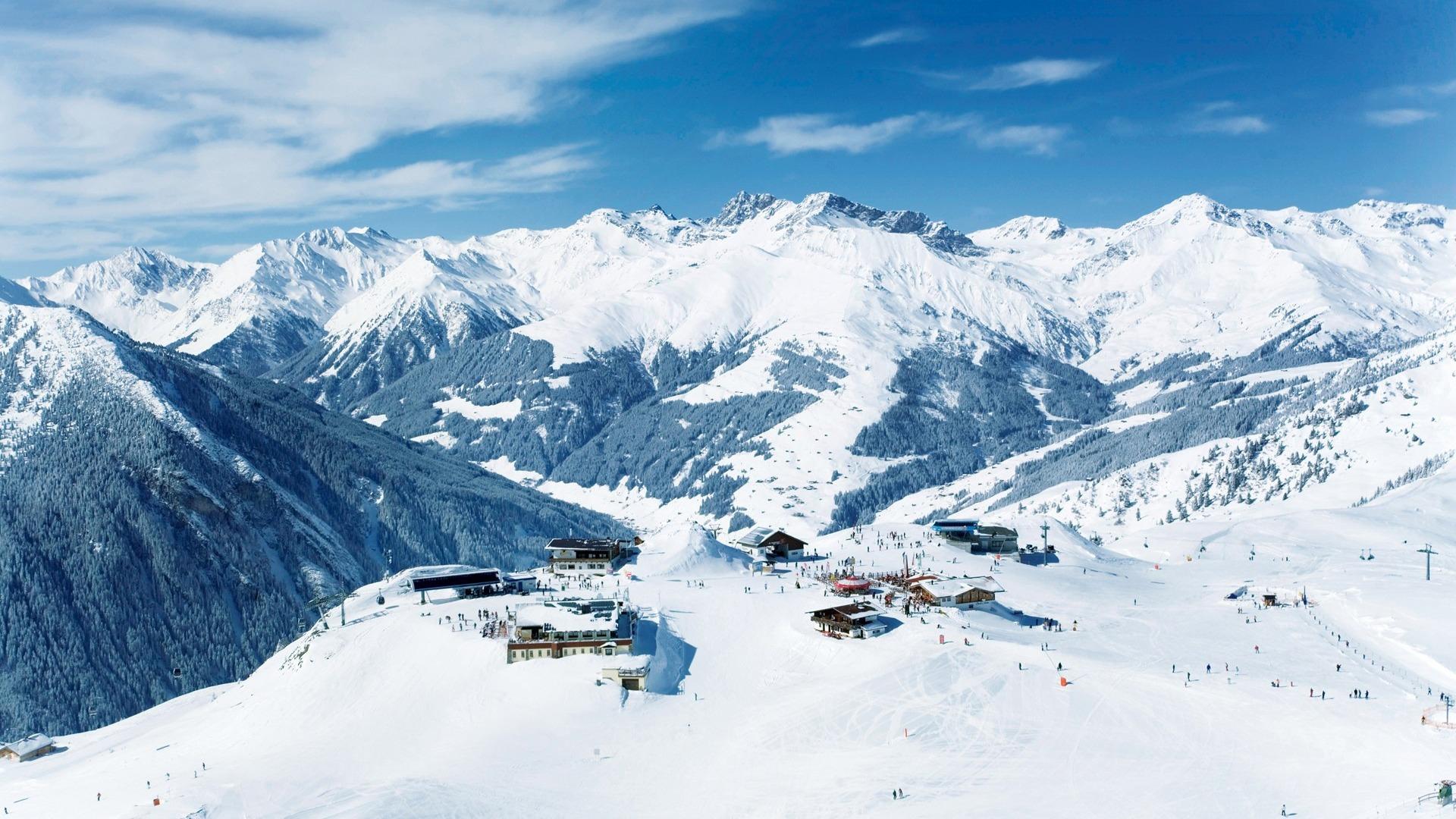 Ski slope wallpaper wallpapersafari - Ski wallpaper ...