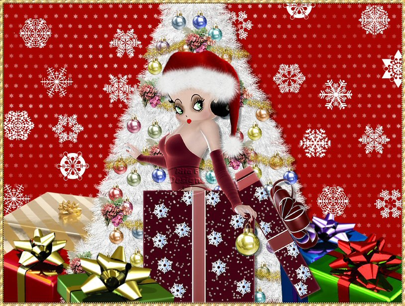 Betty boop christmas wallpaper wallpapersafari - Betty boop noel ...