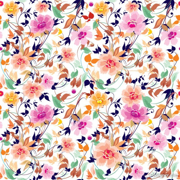 gorgeous patterns background flowers shading flowers Vector 595x595
