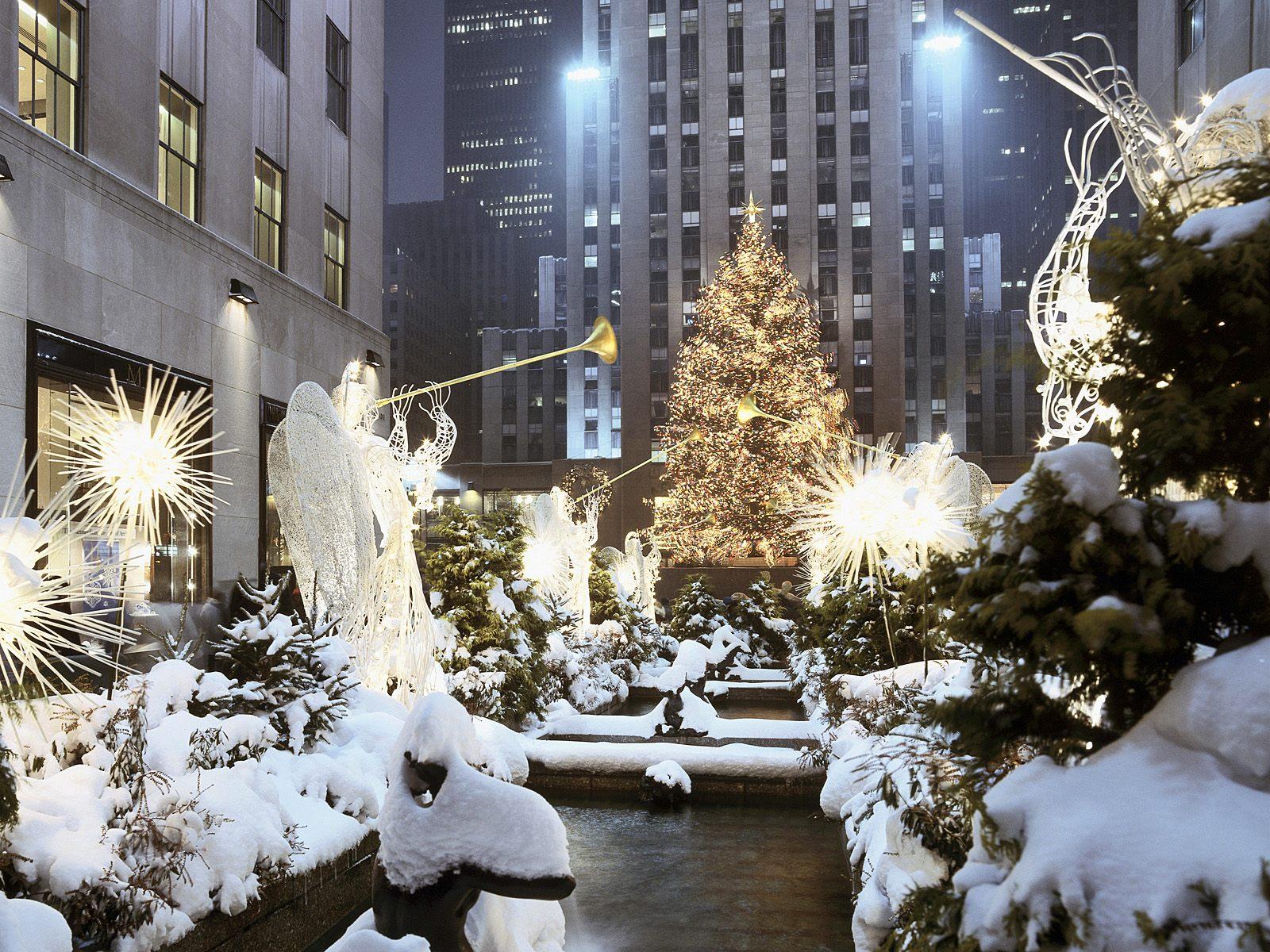 new york united states christmas tree in rockefeller center christmas 1600x1200