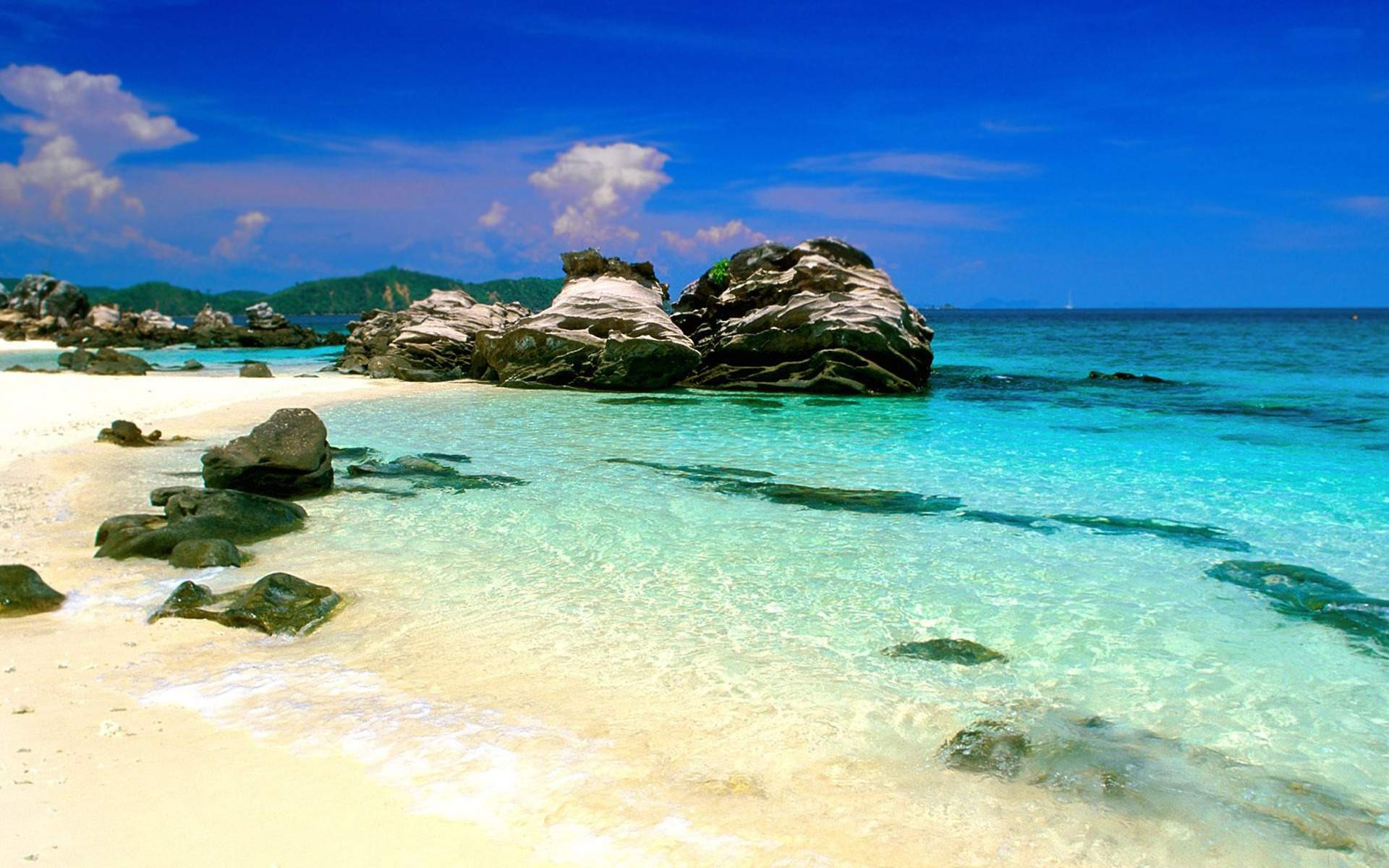File Name Sunny Beach Desktop Wallpaper 1920x1200