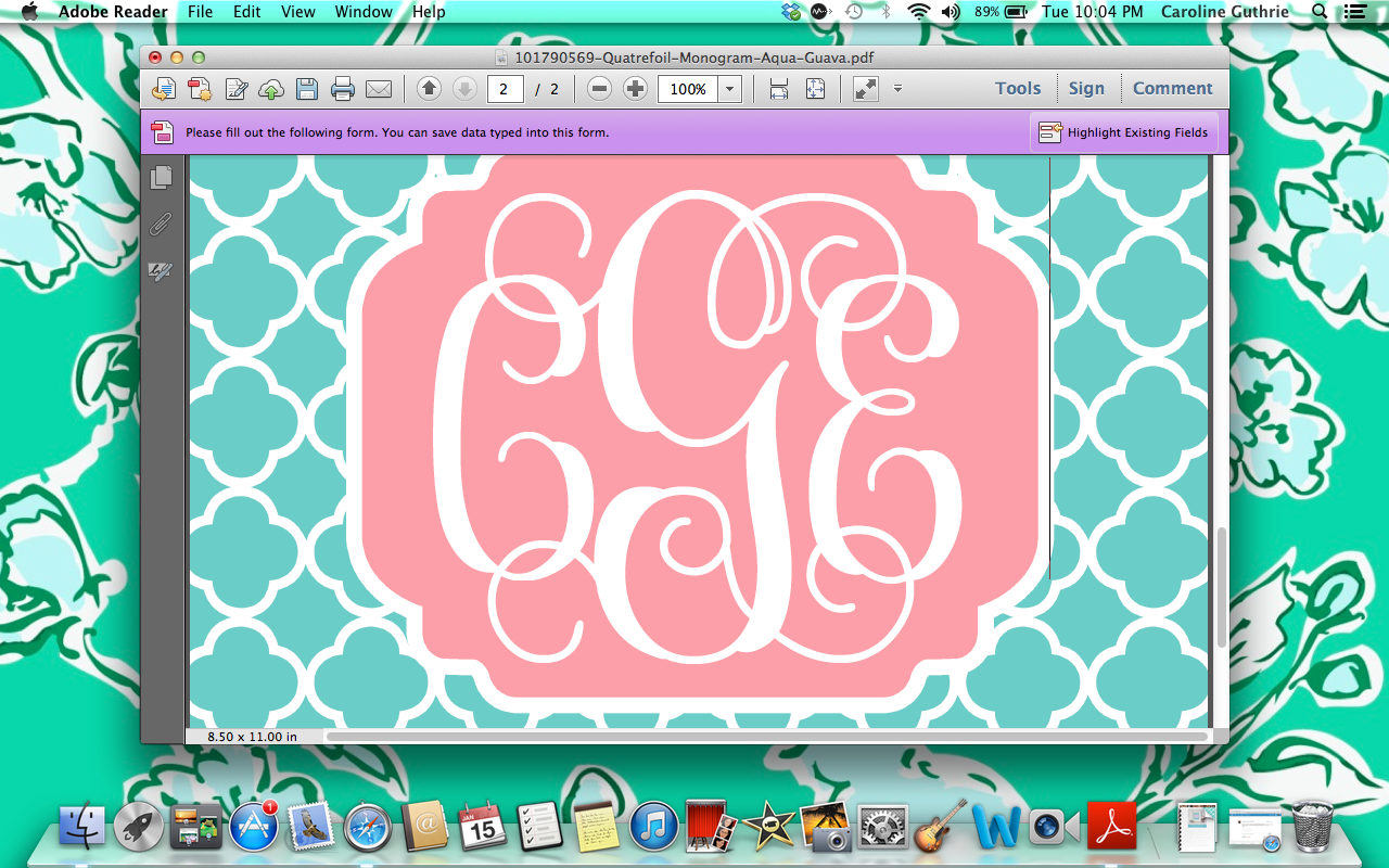 Create Monogrammed iPhone Wallpapers In 10 Easy Steps Sweet Southern 1280x800