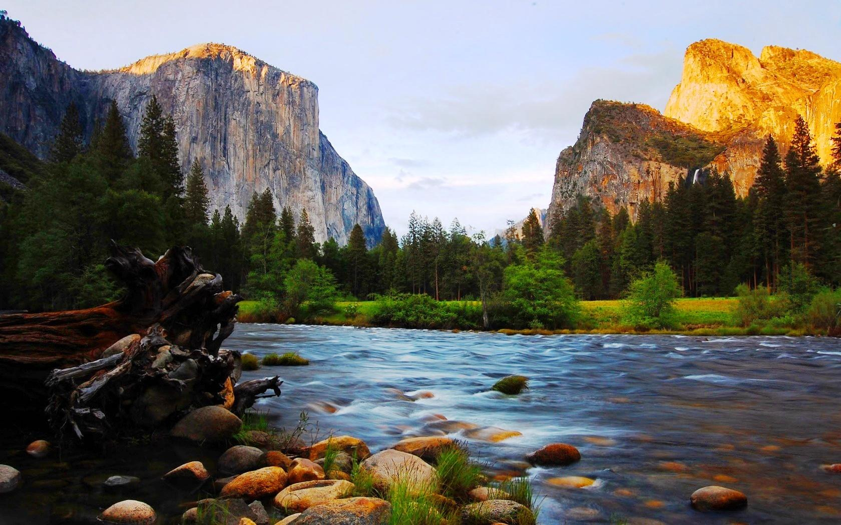 El Capitan And Bridalveil Yosemite National Park California Wallpaper 1680x1050