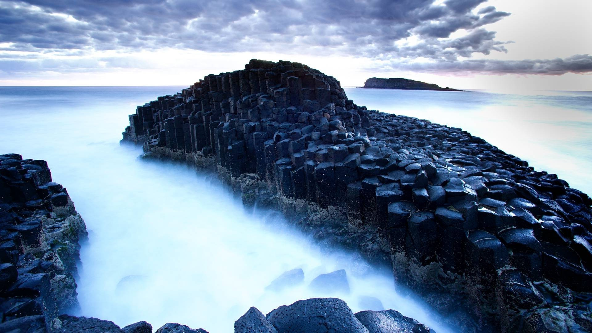 photography Giants Causeway Ireland Nature Landscape Coast 1920x1080