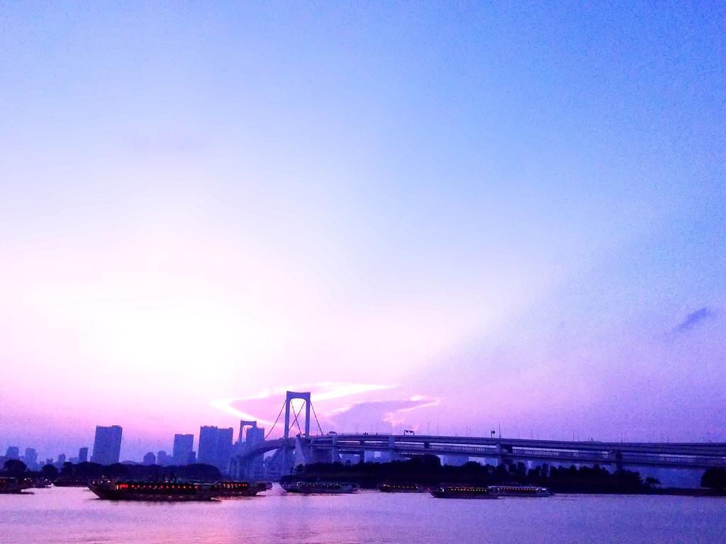 Sunset at odaiba by flamefox3103 1024x768