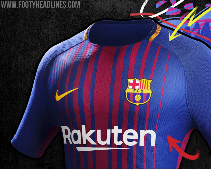 b5ad4a606cb Barcelona 17 18 Home Kit Released Footy Headlines 738x590