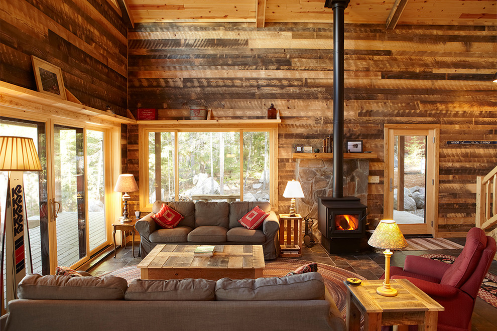 Get Cozy   A Rustic Lodge Style Living Room Makeover 990x660