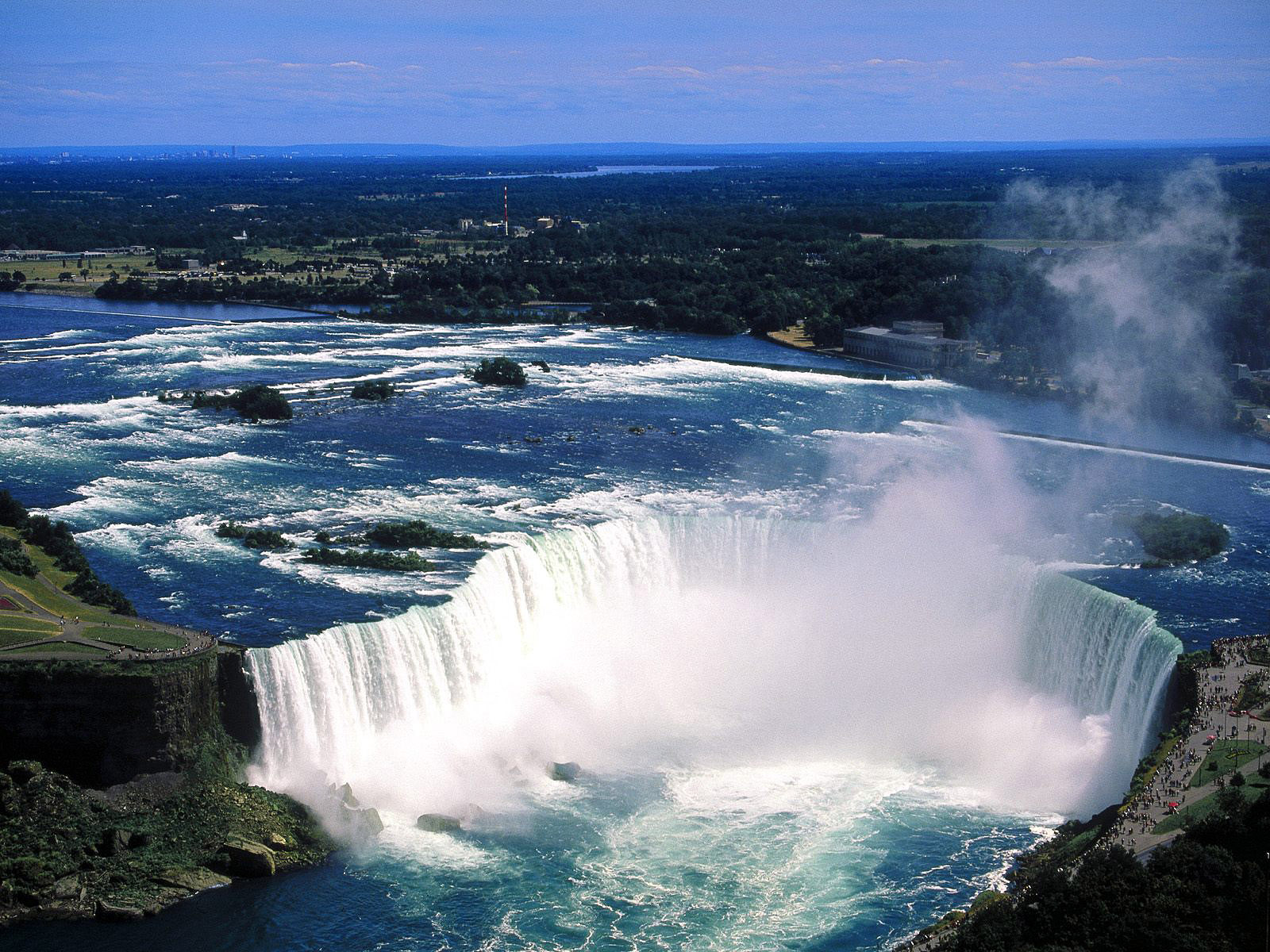 foto van de niagara watervallen in canada van bovenaf wallpaper 1600x1200