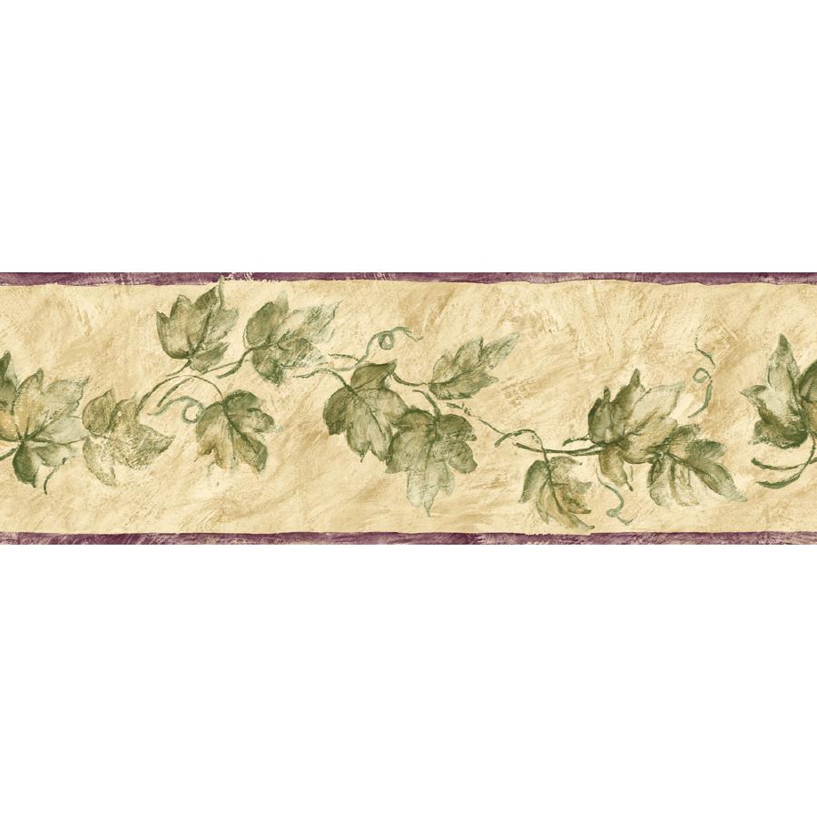 Sunworthy 6 Ivy Watercolor Prepasted Wallpaper Border at Lowescom 900x900