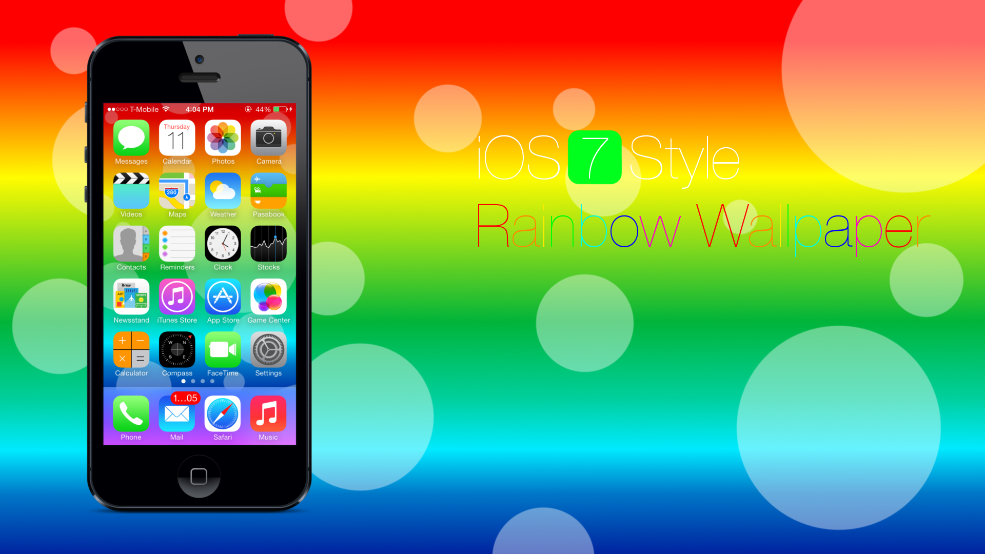 iOS 7 Style Rainbow Wallpaper- iPhone 5 by Star784