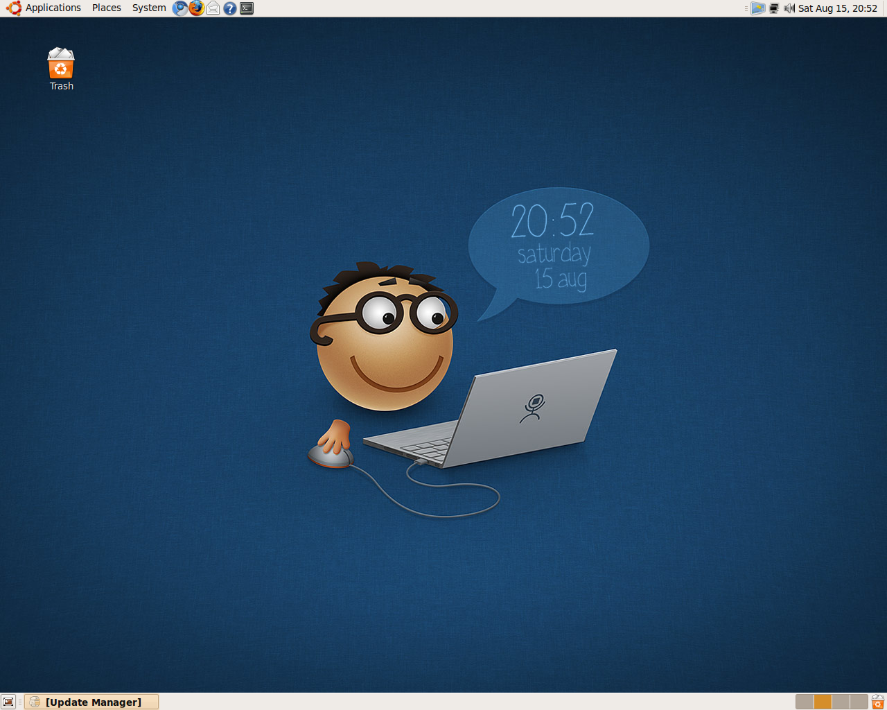 ubuntuguidenethow to create your own wallpaper clock on ubuntu 1280x1024