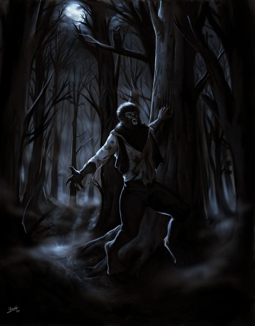 The Wolfman speed painting by FrankCP 862x1100