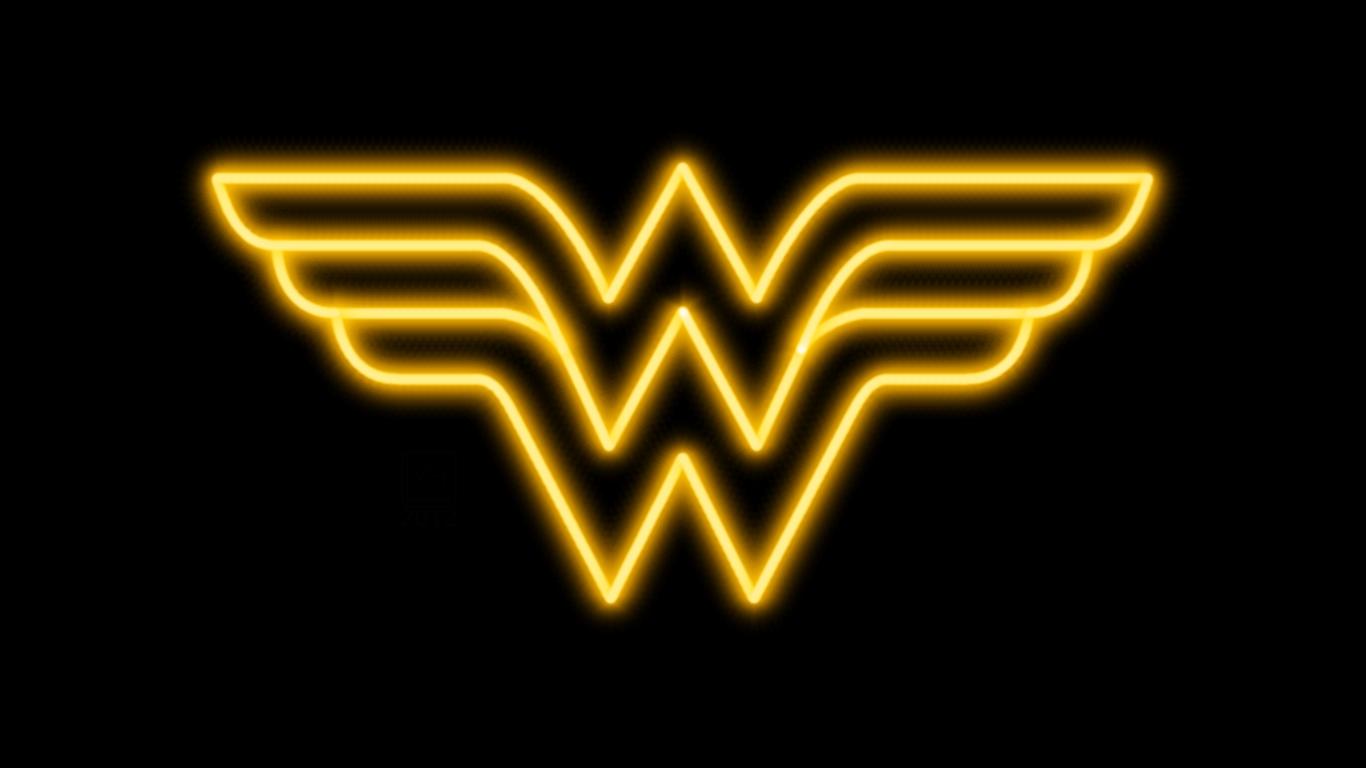 Wonder Woman Logo Wallpapers 1366x768