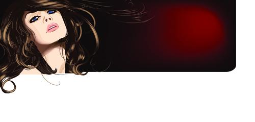 Hairdresser and beauty salon theme vector background 01   Vector 500x239