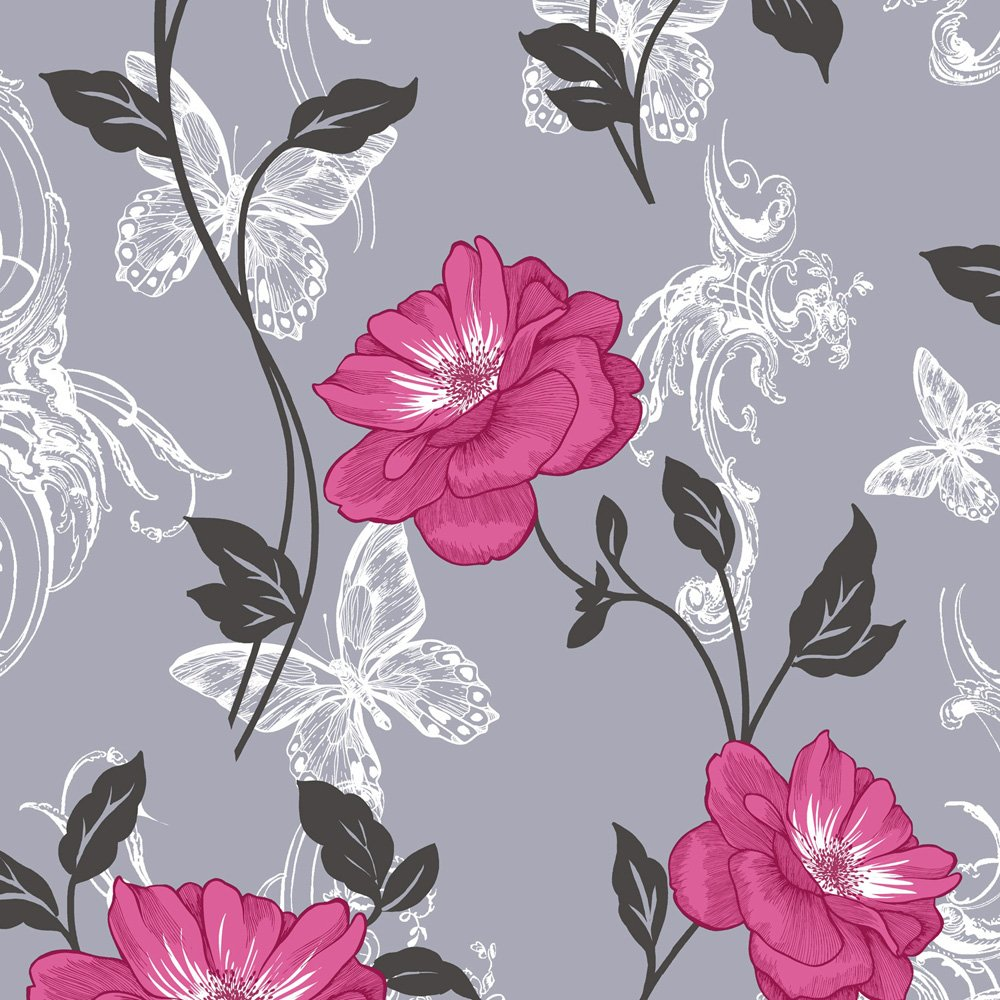 Home Wallpaper Crown Crown Millie Floral Wallpaper 1000x1000
